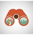 binoculars deer mountain vector image