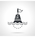 Black icon for floating buoy vector image