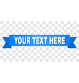 blue stripe with your text here text vector image