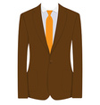 Brown businessman suit vector image vector image