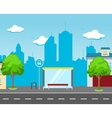 bus station in street vector image