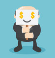 businessmen deliver a gesture that demands money vector image vector image