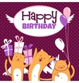 Cats with balloons vector image vector image