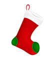 christmas sock icon symbol design winter isolated vector image vector image