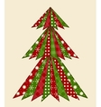 Christmas tree for scrapbooking 1 vector image vector image