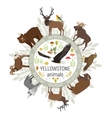 Circle template of Yellowstone National vector image vector image