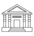 Colonnade icon outline style vector image vector image