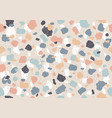 colorful pattern with terrazzo texture vector image vector image