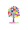 colorful season tree vector image vector image
