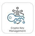 crypto key management icon vector image