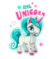 cute cartoon unicorn patch vector image