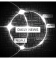 DAILY NEWS vector image vector image