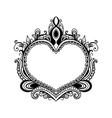 decorative heart style zentangle vector image