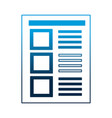 document paper sheet file office vector image