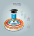 education infographics template 4 step option vector image