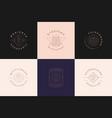 esoteric logos emblems design templates set vector image