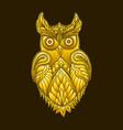 fantasy decorative owl steampunk vintage style vector image vector image
