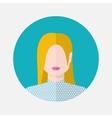 female nordic avatar vector image vector image