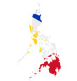 flag in map philippines vector image vector image
