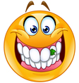food stuck in teeth emoticon vector image vector image