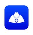forage cap icon digital blue vector image