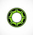gear cog engine abstract logo vector image
