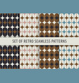 geometric seamless pattern set abstract retro vector image vector image