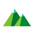 green mountains flat isolated vector image vector image