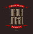 heavy metal - brutal font for labels headlines vector image