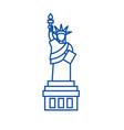 liberty statue line icon concept liberty statue vector image vector image