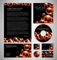 Modern Bubbles Graphic Business Layout vector image