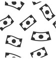 money banknotes rain seamless pattern on white vector image