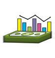 money stadistics cartoon vector image vector image
