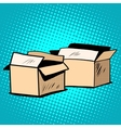 Packaging boxes cardboard retro vector image vector image