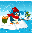 Penguins are on fishing vector image vector image