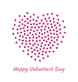Pink Heart for Valentines Day card Background vector image vector image