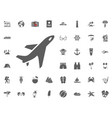 plane aircraft icon summer holidays and vector image vector image