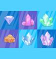 precious stones and minerals vector image