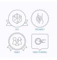 Pregnancy family and family planning icons vector image vector image