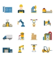 Production Line Icons Isolated vector image vector image