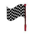 racing flag draw vector image vector image
