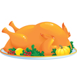 Roasted turkey vector image vector image
