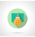 Round flat icon for yellow bauble vector image vector image