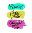 script logo carnivaldance festivalcarnival party vector image vector image