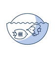 sea fish swiming icon vector image