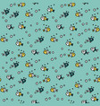 sea seamless pattern with handdrawn doodle vector image vector image