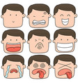 set of cartoon face vector image