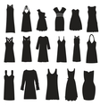 Set of dresses isolated on white background vector image vector image
