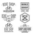 set vintage and modern bicycle shop logo badges vector image