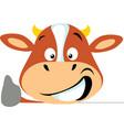 simple cow icon flat design emoticon vector image